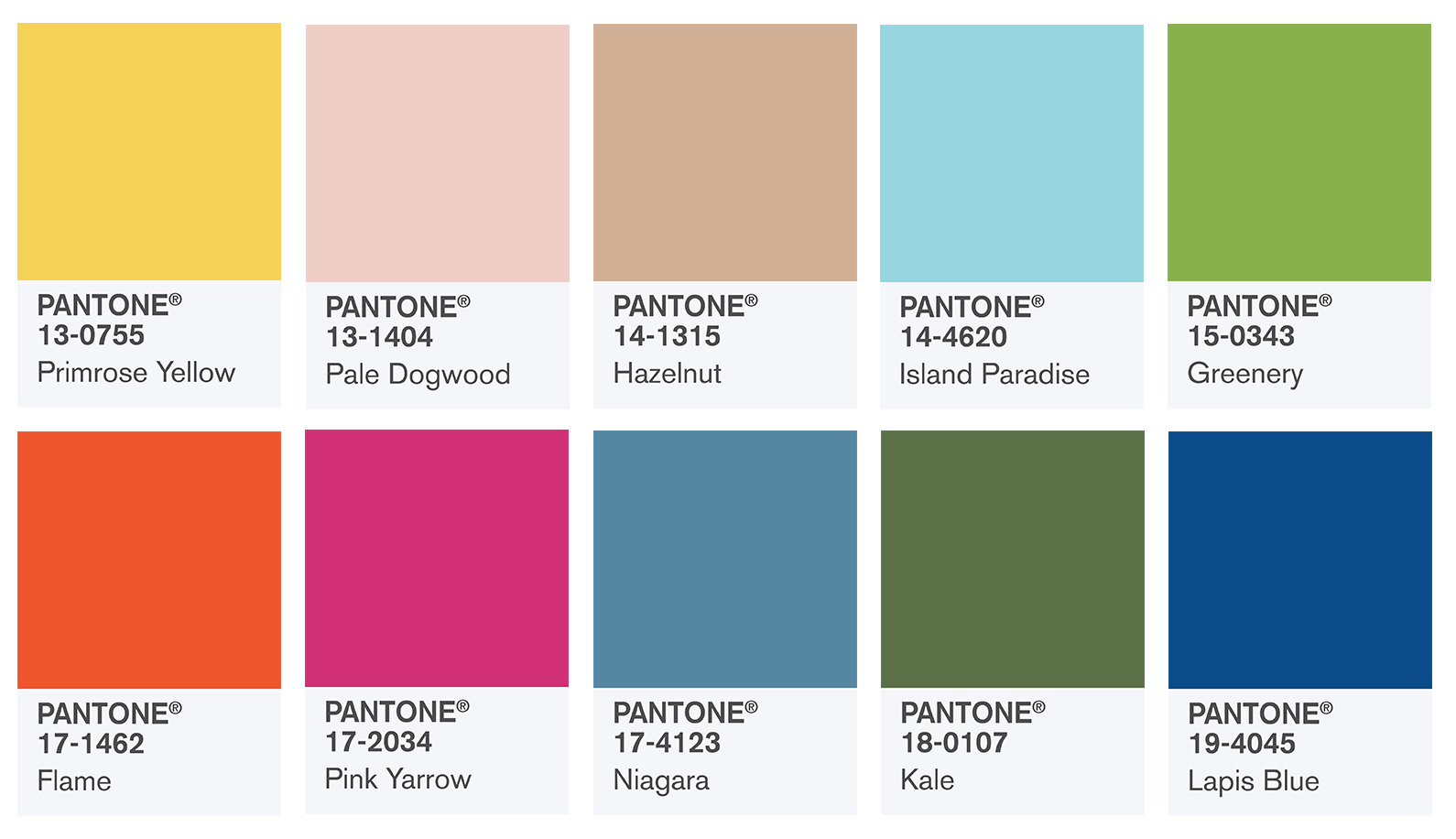 Pantone 2017 цвет