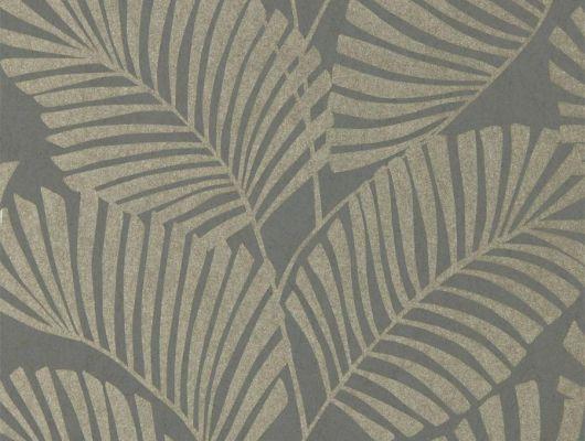 Английские обои в коридор арт. 112139 дизайн Mala из коллекции Salinas от Harlequin, Великобритания с рисунком тропических листьев серебристого цвета на сером фоне выбрать в салоне обоев в Москве, онлайн оплата, Salinas, Обои для гостиной, Обои для спальни