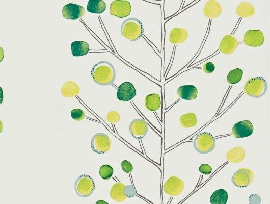 Посмотреть дизайнерские обои Berry Tree с ярким растительным узором  из коллекции Esala от Scion в каталоге, Esala, Обои для кухни