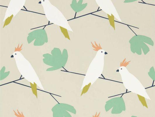 Дизайнерские обои  Love Birds с попугаями арт. 112219 из коллекции Esala от Scion недорого., Esala, Обои для кухни