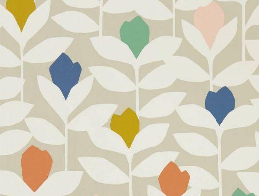 подобрать обои для спальни Padukka с цветочным узором  из коллекции Esala от Scion в большом ассортименте, Esala, Обои для гостиной, Обои для кухни, Обои для спальни
