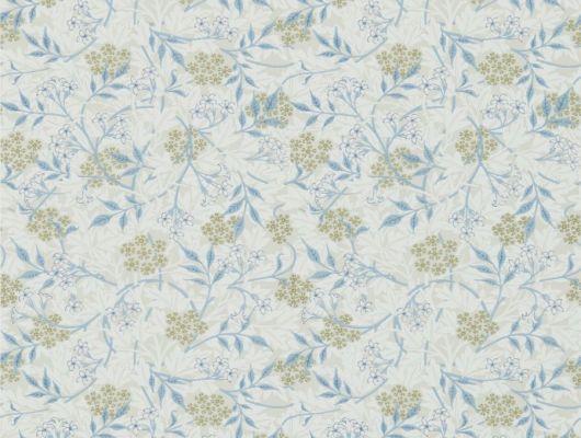 Подобрать бумажные обои для спальни  арт. 216808 Jasmine из коллекции Compilation Wallpaper от Morris с изображением цветка жасмина в пастельных тонах в интернет магазине. Обои в интерьере, Compilation Wallpaper, Обои для гостиной, Обои для кухни, Обои для спальни