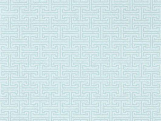 Выбрать обои в коридор арт. 312935 дизайн Ormonde Key из коллекции Folio от Zoffany, Великобритания с геометрическим рисунком серо-зеленого цвета на сером фоне в салоне обоев в Москве, Folio, Обои для гостиной, Обои для спальни