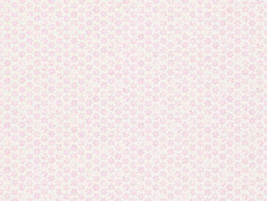 Флизелиновые обои Ditsy Daisy арт. 112656/110550 с орнаментом из мелких ромашек розового цвета заказать с онлайн-оплатой., Book of Little Treasures, Обои для спальни