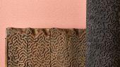 Обои кораллового цвета с коралловым рисунком на основе древнего обойного оттиска