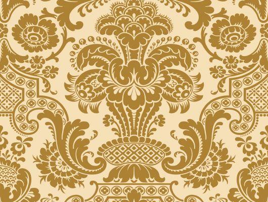 Золотые обои для Вашей квартиры с роскошным дамаском в интернет магазине, Mariinsky Damask, Обои для квартиры