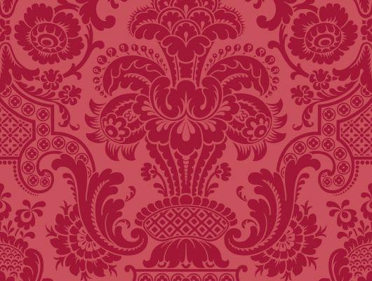 Любвеобильные флоковые обои царского красного цвета где потрогать?, Mariinsky Damask, Английские обои, Обои для стен, Флоковые обои