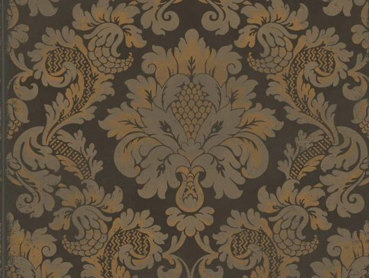 Обои устойчивые к мытью с роскошным рисунком Стравинский с золотым дамасками, Mariinsky Damask, Английские обои, Моющиеся обои
