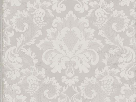 Обои с дизайнерским рисунком в виде бежевой плитки с дамасками, Mariinsky Damask, Английские обои, Дизайнерские обои