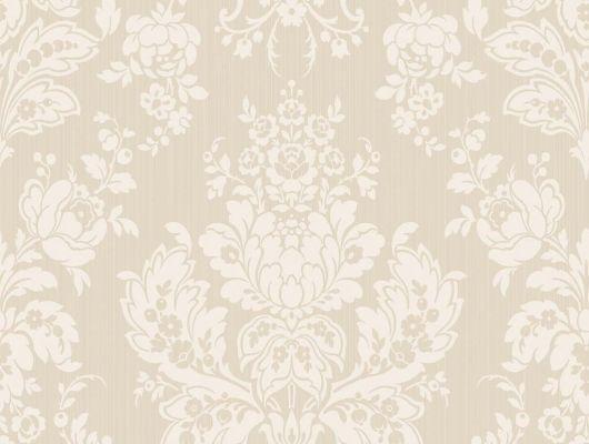 Обои из флизелина бежевого цвета с цветочным рисунком, Mariinsky Damask, Английские обои, Флизелиновые обои