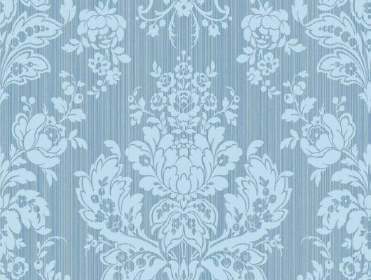 Обои для квартирных стен синего цвета с уникальным цветочным рисунком, Mariinsky Damask, Английские обои, Обои для стен