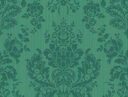 Зеленые обои из Англии для квартир, Mariinsky Damask, Английские обои, Обои для квартиры