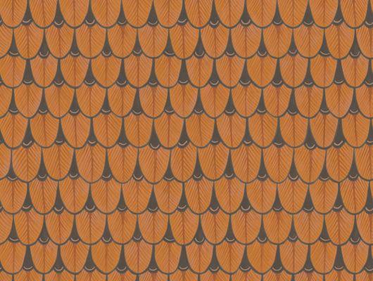 Оранжевые листья на обоях для квартиры купить в Москве, Ardmore, Английские обои, Обои для квартиры