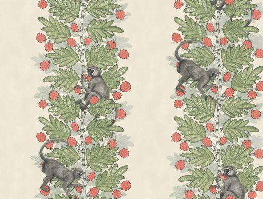 Дизайнерские обои для стен с деревом акация и мартышками на нем купить в России, Ardmore, Английские обои, Обои для стен