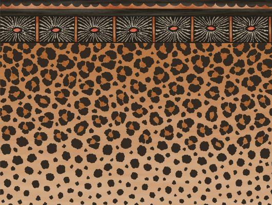 Флизелиновый бордюр для обоев с потрясающе диким дизайном гепарда и леопарда из африканских семейств кошачьих купить в Москве, Ardmore, Английские обои, Бордюры для обоев, Флизелиновые обои, Хиты продаж