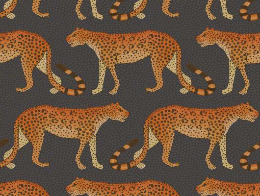 Английские обои для коридора и прихожей с гуляющими леопардами на темном фоне, Ardmore, Английские обои, Дизайнерские обои, Обои для прихожей, Хиты продаж