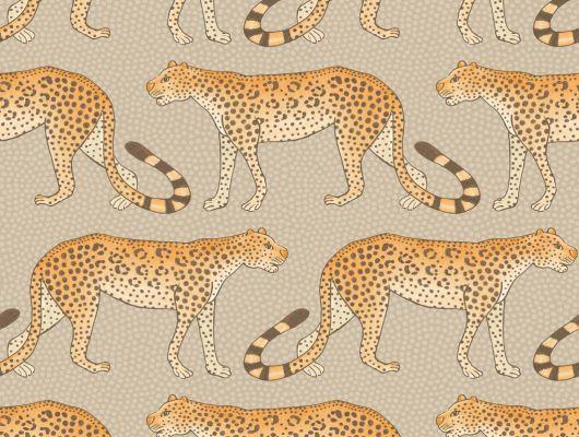 Эксклюзивные обои для кабинета от Английского производителя обоев её Величества, с экзотическим рисунком гуляющих сытых леопардов, Ardmore, Английские обои, Обои для кабинета, Обои для прихожей