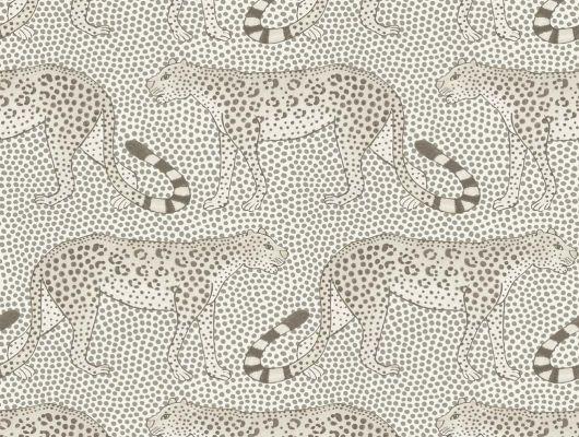 Стильные обои для спальни с белыми леопардами гуляющими из стороны в сторону заказать с доставкой, Ardmore, Английские обои, Новинки, Обои для спальни