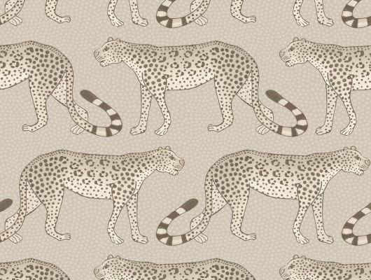 Обои из флизелина с небольшим рисунком в виде африканских леопардов из семейства кошачьих купить в шоу-руме в Москве, Ardmore, Английские обои, Обои с рисунком, Флизелиновые обои