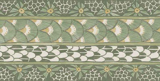 Обойный бордюр из коллекции с африканскими мотивами зеленого увета купить в Москве, Ardmore, Английские обои, Бордюры для обоев, Новинки
