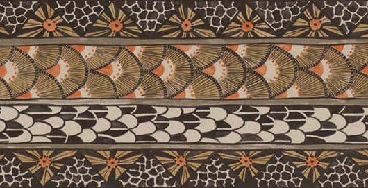 Насыщенный оранжево черный бордюр для флизелиновых обоев с элементами африканских зверей, Ardmore, Английские обои, Бордюры для обоев, Хиты продаж
