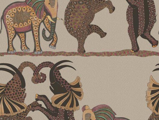 Танцующие слоны на Английских обоях для прихожей купить в шоу-руме со складом в Москве, Ardmore, Английские обои, Новинки, Обои для прихожей