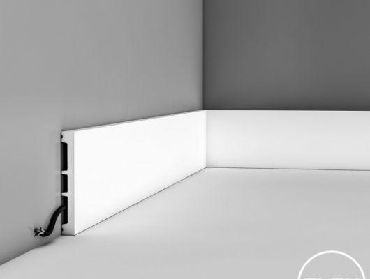 Плинтус SX163 - SQUARE, Orac decor, Лепнина и молдинги, Назначение, Плинтусы