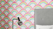 Продажа обоев для комнаты Rainbow Brights арт. 112645 от Harlequin с акварельным орнаментом из ярких радужных арок в салонах Москвы.