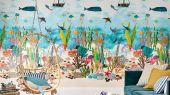Заказать панно для детской Above And Below арт. 112648 от Harlequin с красочным изображением обитателей морского дна и мягко покачивающимися над ним рыбацкими лодками с бесплатной доставкой.
