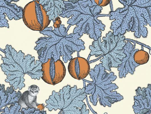 Флизелиновые покрытия для стен с рисунком из обезьян на фруктовом дереве купить онлайн, Fornasetti, Fornasetti Senza Tempo, Английские обои, Обои для стен