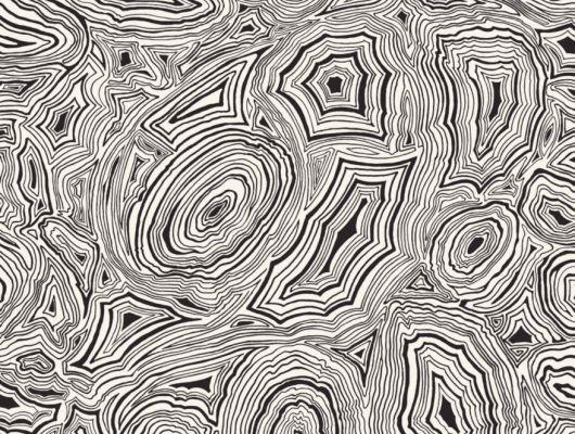 Обои с текстурой минерала малахит, в черно-белом цвете для украшения любой комнаты в вашей квартире где приобрести, Fornasetti Senza Tempo, Английские обои, Новинки