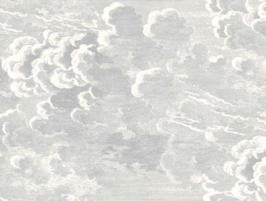 Светлые обои для спальни с изображением кучевых облаков, Fornasetti, Fornasetti Senza Tempo, Английские обои, Обои для спальни