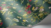 """Обои Cole & Son - """"Sweet Pea"""" арт. 115/11033. Обновлённый дизайн представлен в современных сочетаниях: вишнёвый и маджента на фоне цвета вер-гинье, охра и розовый на пергаментном фоне. Обновлённый дизайн представлен в современных сочетании вишнёвого и мадженты на фоне цвета вер-гинье. Английские обои, Обои Cole & Son, Каталог обоев"""