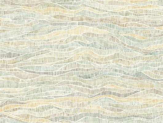 """Обои Cole & Son - """"Meadow"""" арт. 115/13040. Дизайн задуман как отражение естественных изгибов вересковых пустошей и долин, встречающихся по всей Британии, оливковых тонов, воплощенный в акварельной технике. Обои для спальни, выбрать в каталоге, заказать доставку, Botanical Botanica, Обои для гостиной, Обои для кухни"""