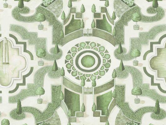 """Слово топиар берет свое начало с Римской империи и использовалось для обозначения скульптур из растений разнообразнейшей формы, создаваемые садовниками на участках господ. Топиарий и по сей день является неотъемлемой частью жизни, без которого уже не обходится современный ландшафтный дизайн. Создайте у себя дома собственный сад, с помощью обоев Cole & Son - """"Topiary"""" арт. 115/2005. Обои для квартиры, обои на стену, дизайнерские обои., Botanical Botanica, Обои для гостиной"""