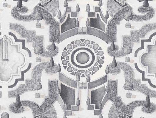 """Слово топиар берет свое начало с Римской империи и использовалось для обозначения скульптур из растений разнообразнейшей формы, создаваемые садовниками на участках господ. Топиарий и по сей день является неотъемлемой частью жизни, без которого уже не обходится современный ландшафтный дизайн. Создайте у себя дома собственный сад, с помощью обоев Cole & Son - """"Topiary"""" арт. 115/2006. Обои в Москве, адреса магазинов, каталог обоев, Botanical Botanica, Обои для гостиной"""