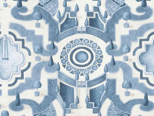 """Слово топиар берет свое начало с Римской имеперии и использовалось для обозначения скульптур из растений разнообразнейшей формы, создаваемые садовниками на участках господ. Топиарий и по сей день является неотъемлимой частью жизни, без которого уже не обходится современный ландшафтный дизайн. Создайте у себя дома собственный сад, с помошью обоев Cole & Son - """"Topiary"""" арт. 115/2007. Английские обои, Обои Cole & Son, Каталог обоев, Botanical Botanica, Обои для гостиной, Обои для кухни"""