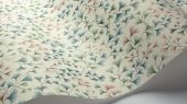 """Обои Cole & Son - """"Maidenhair"""" арт. 115/6017. На обоях изображены ветви очень стойкого дерева Гинко в акварельной технике петролевого, розового и мятных цветов на белом фоне. Обои в гостиную, стильные обои, флизелиновые обои"""
