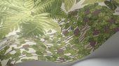 """Обои Cole & Son - """"Fern"""" арт. 115/7021. Пышный сад в стиле Британского ботанического мотива с изображением многолетних суккулентов и папоротников лиственно-зелёного и оливкового цвета на белом фоне. Обои в Москве, адреса магазинов, каталог обоев"""
