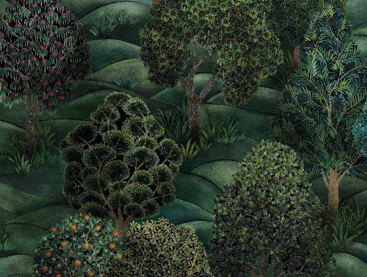 """Обои Cole & Son - """"Forest"""" арт. 115/9028. Бескрайняя чаща фантастических деревьев с использованием широкого спектра зеленых оттенков, что стало возможно благодаря цифровой печати рисунка. Погружают зрителя в атмосферу сказочного леса и мимолетных фантазий. Английские обои, Обои Cole & Son, Каталог обоев, Botanical Botanica, Обои для гостиной, Обои для спальни"""