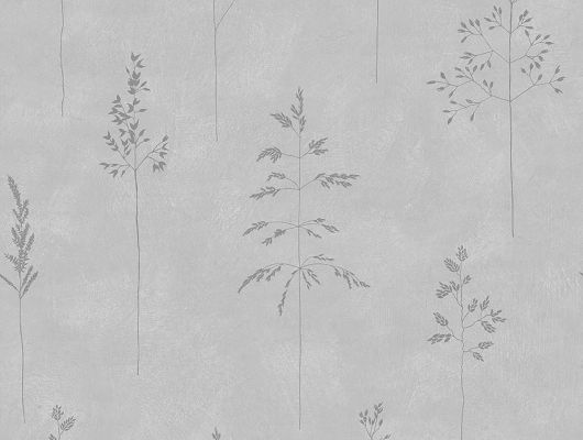 Серые обои с легким растительным принтом на бетонном фоне в гостиную на стену, посмотреть каталог, Everyday Moments, Новинки, Обои для гостиной, Обои для квартиры
