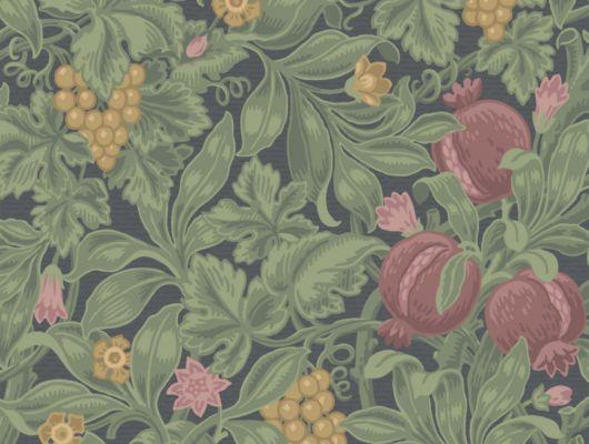 Обои с красивым фруктовым рисунком для стен на темном фоне, The Pearwood Collection, Английские обои, Обои для стен, Обои с рисунком, Хиты продаж