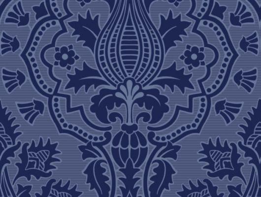 Обои с классическим флоковым узором в насыщенном темном цвете сделают ваш кабинет настоящим произведением искусства, The Pearwood Collection, Английские обои, Обои для кабинета, Флоковые обои