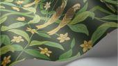 Флизелиновые обои пр-во Великобритания коллекция Seville от Cole & Son, рисунок под названием Jasmine & Serin Symphony изящный растительный узор с птицами на зеленом фоне. Обои для гостиной, обои для спальни, обои для кухни. Онлайн оплата, большой ассортимент, купить обои в интернет-магазине Одизайн