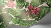 Флизелиновые обои пр-во Великобритания коллекция Seville от Cole & Son, рисунок под названием Geranium яркий цветочный принт на белом фоне. Обои для гостиной, обои для спальни. Бесплатная доставка, купить обои, большой ассортимент