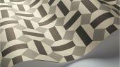 Флизелиновые обои пр-во Великобритания коллекция Seville от Cole & Son, геометрический рисунок под названием Alicatado в черно-серой гамме на белом фоне. Обои для гостиной, обои для кухни, обои для коридора. Купить обои в интернет-магазине, большой ассортимент, бесплатная доставка