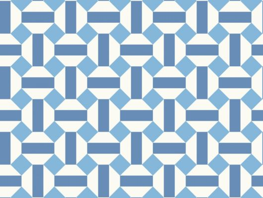 Флизелиновые обои пр-во Великобритания коллекция Seville от Cole & Son, геометрический рисунок под названием Alicatado в синей гамме на белом фоне. Обои для гостиной, обои для кухни, обои для коридора. Купить обои в интернет-магазине, большой ассортимент, бесплатная доставка, Seville, Обои для гостиной, Обои для кухни
