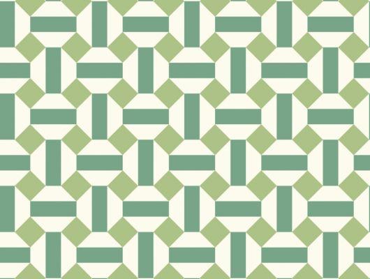 Флизелиновые обои пр-во Великобритания коллекция Seville от Cole & Son, геометрический рисунок под названием Alicatado в зеленой гамме на белом фоне. Обои для гостиной, обои для кухни, обои для коридора. Купить обои в интернет-магазине, большой ассортимент, бесплатная доставка, Seville, Дизайнерские обои, Новинки, Обои для гостиной, Обои для кухни