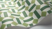 Флизелиновые обои пр-во Великобритания коллекция Seville от Cole & Son, геометрический рисунок под названием Alicatado в зеленой гамме на белом фоне. Обои для гостиной, обои для кухни, обои для коридора. Купить обои в интернет-магазине, большой ассортимент, бесплатная доставка
