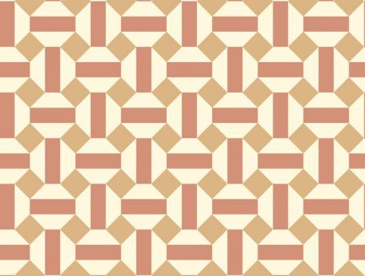 Флизелиновые обои пр-во Великобритания коллекция Seville от Cole & Son, геометрический рисунок под названием Alicatado в охристой гамме на белом фоне. Обои для гостиной, обои для кухни, обои для коридора. Купить обои в интернет-магазине, большой ассортимент, бесплатная доставка, Seville, Обои для гостиной, Обои для кухни